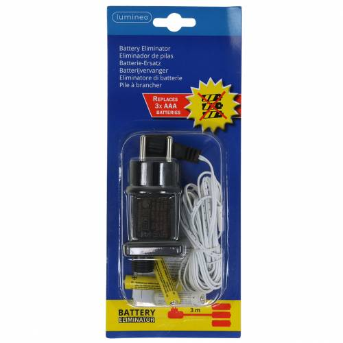 Batterie-Adapter Weiß 3m 4,5V 3 x AAA