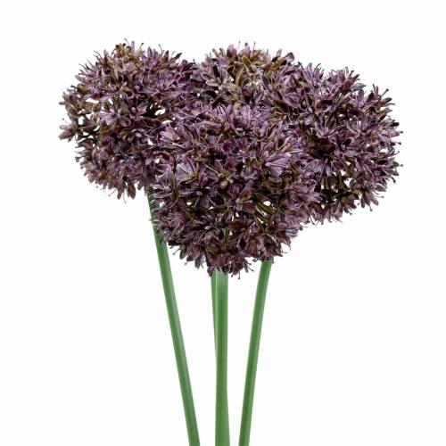 Zierlauch Allium künstlich Lila Ø7cm H58cm 4St