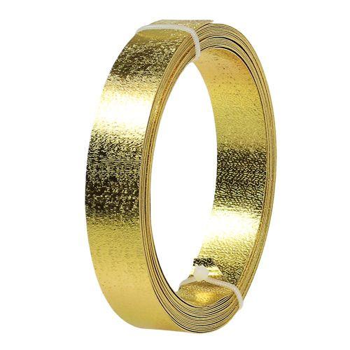 Flachdraht Gold matt 20mm 5m