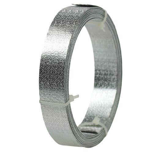Aluband Flachdraht Silber matt 20mm 5m