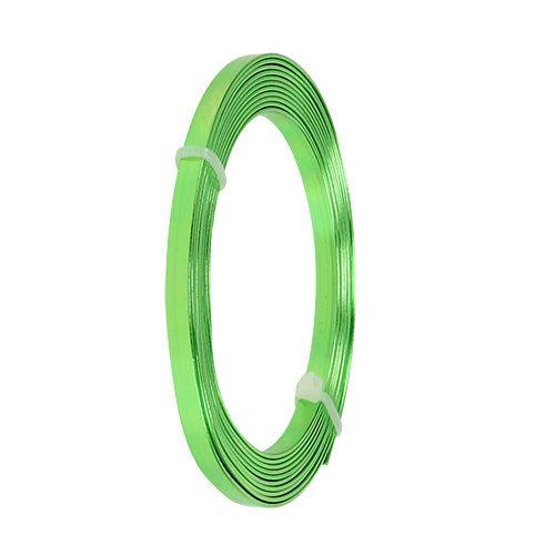 Aluminium Flachdraht Grün 5mm x 1mm 2,5m
