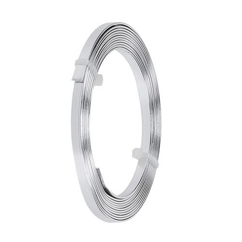 Aluminium Flachdraht Silber 5mm x 1mm 2,5m