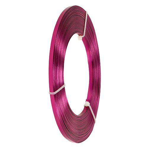 Aluminium Flachdraht Pink 5mm 10m