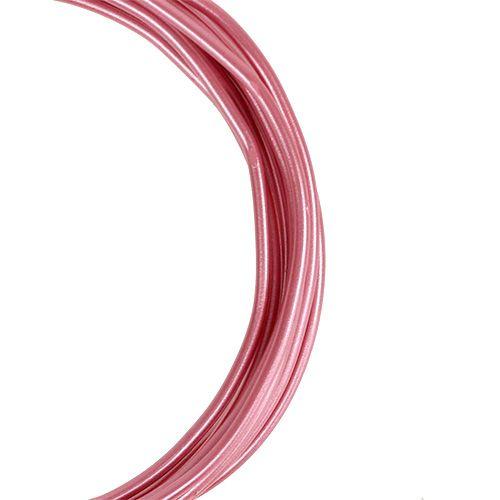 Aluminiumdraht 2mm Rosa 3m