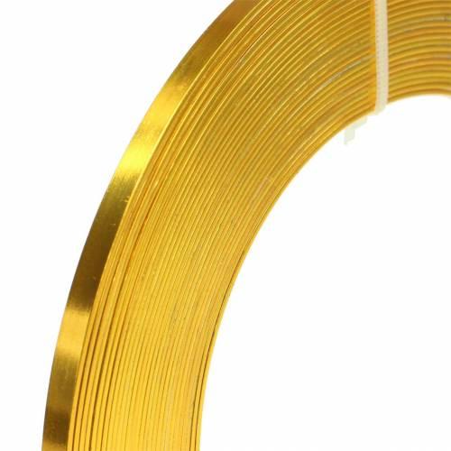 Aluminium-Flachdraht 5mm 10m Sonnengelb Basteldraht