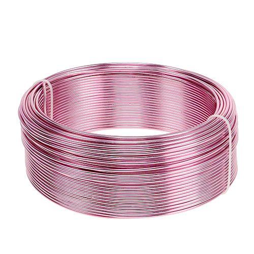 Aluminiumdraht Ø2mm Rosa 500g (60m)