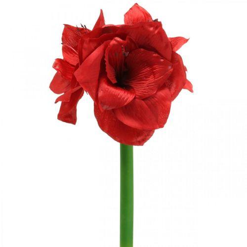 Amaryllis Rot künstlich Seidenblume mit drei Blüten H40cm