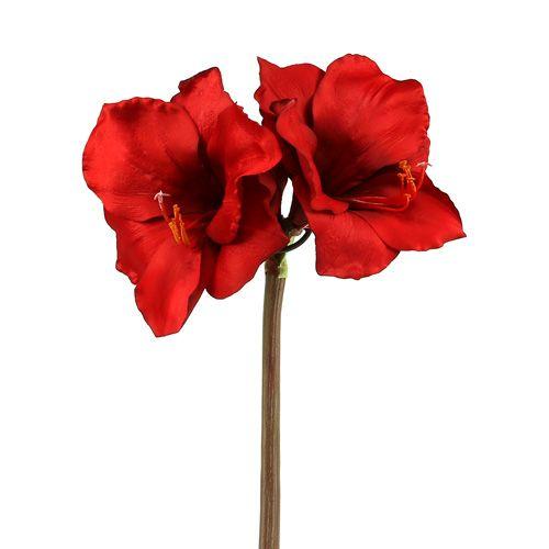 Amaryllis künstlich Groß rot 96,5cm