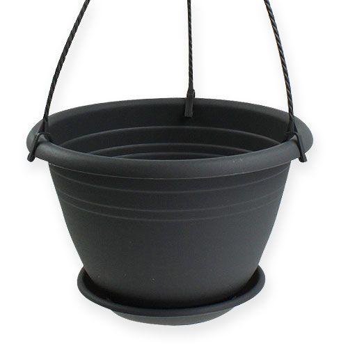 blumenampel galicia 30cm anthrazit preiswert online kaufen. Black Bedroom Furniture Sets. Home Design Ideas
