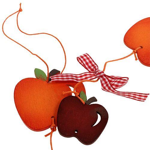 Apfel-Girlande Rot 86cm 3St
