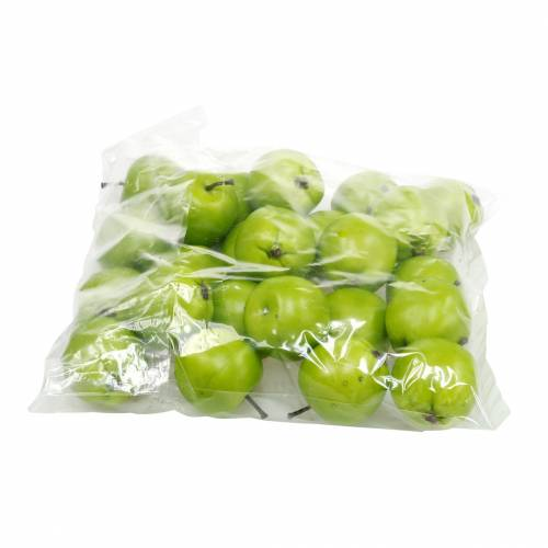 Deko-Obst Mini-Apfel künstlich Grün 4,5cm 24St