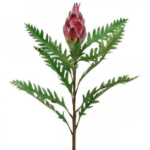 Künstliche Artischocke Pink Kunstpflanzen Deko Herbst H68cm