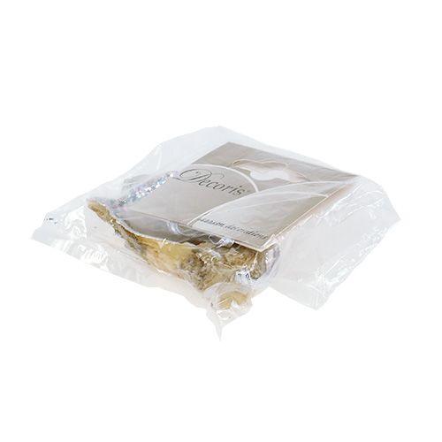 Auster mit Perle und Glimmer zum Hängen 8,5cm
