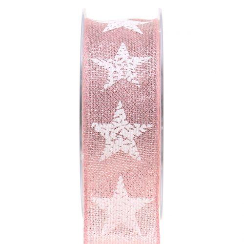Dekoband Stern Rosa 40mm 15m