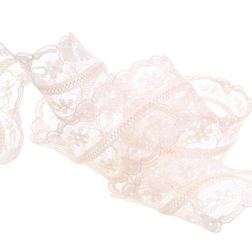 Spitzenband Vintage Rosa 40mm 20m