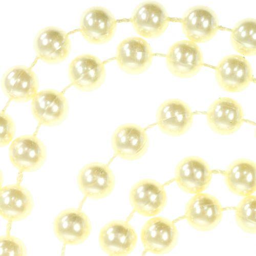 Perlenband Crème 10mm 6m