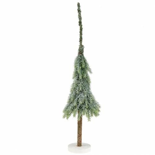 Deko Tannenbaum beschneit Grün, Weiß 56cm