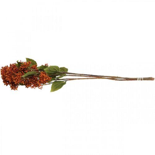 Dekozweig Herbst künstlich Orange 63cm 3St