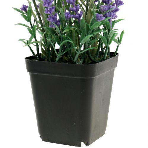 Lavendel im Topf künstlich H25cm