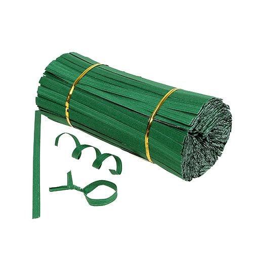 Bindestreifen kurz Grün 20cm 2er-Draht 1000St preiswert online kaufen