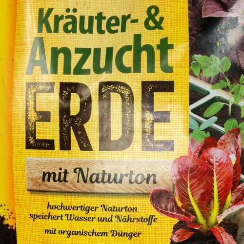 FRUX Bio Kräuter- und Anzuchterde mit Naturton Bioerde Kräutererde 18l