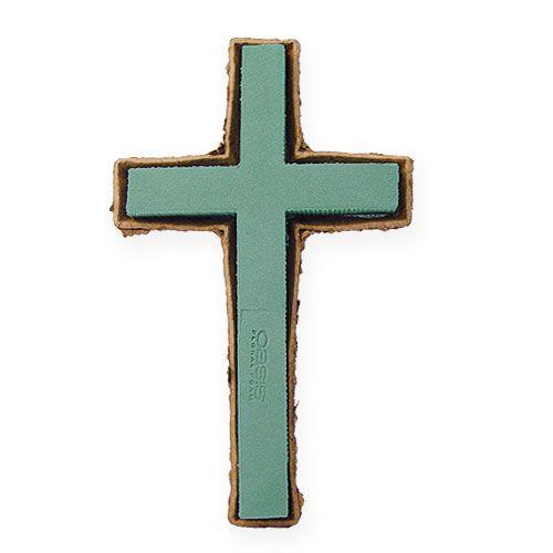 Steckschaum Kreuz groß Grün 53cm 2St Grabschmuck