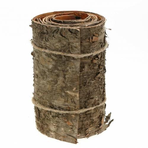 Birkenrinde auf der Rolle Braun, Grau 200×15cm