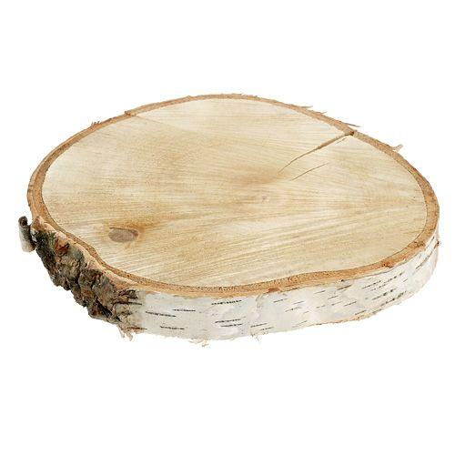 Birkenscheibe natur Ø30cm - 40cm