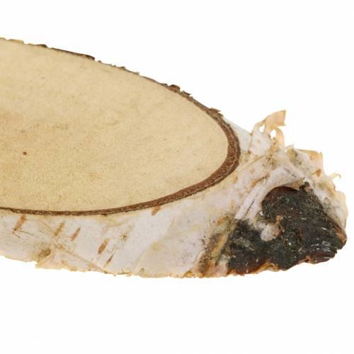 Birkenscheiben oval natur 4×8cm 1kg für Dekoration