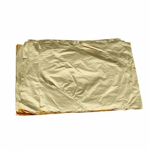 Blattmetall Blätter 16×16cm Golden 100St