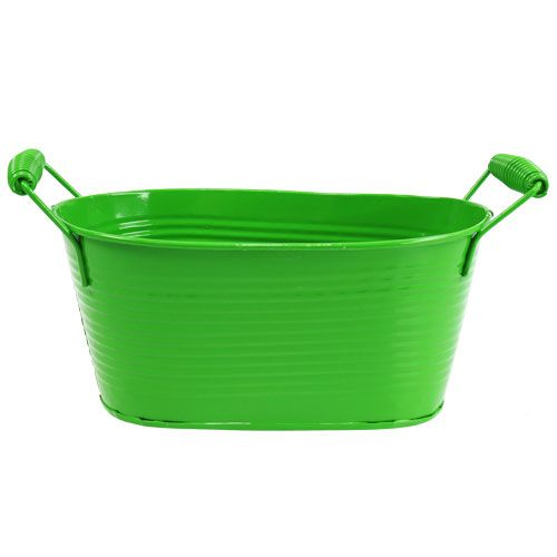 Blechschale oval Grün 20cm x 12cm x 9cm