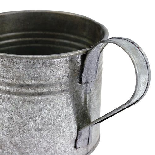 Blechgießkanne silber matt Ø10,5cm H10cm 8St
