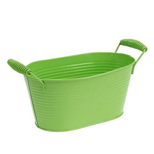 Blechschale Grün oval 20cm x 12cm H9cm
