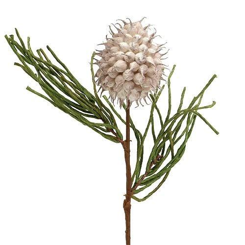 Blütenzweig Foam Grau/Grün 65cm