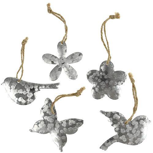 Blume Vogel Schmetterling Metall 5,5cm - 7,5cm 15St