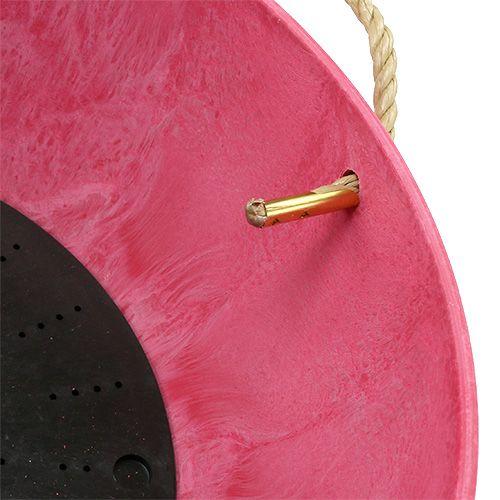 "Blumenampel ""Fiona"" Ø25cm H12cm Pink"