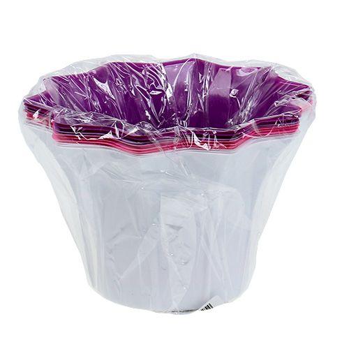 Blumentopf aus plastik 17cm h11 5cm 10st preiswert online for Blumentopf plastik
