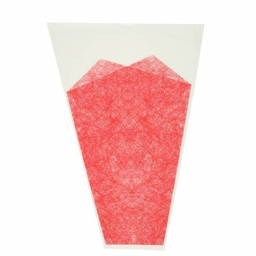 Blumentüte Jute Rot L36cm B25cm - 12cm 50St