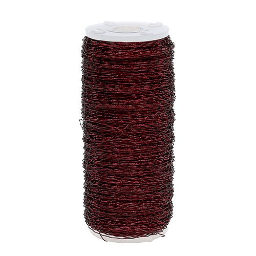 Bouilloneffektdraht Ø0,30mm 140m Bordeaux