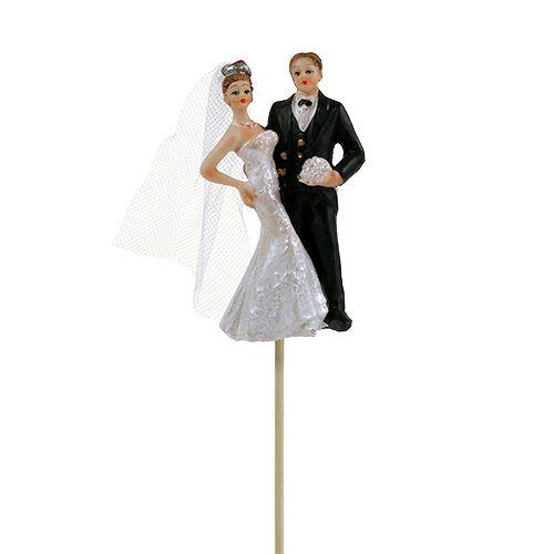 Brautpaar als Dekostecker 8cm L34cm 1St