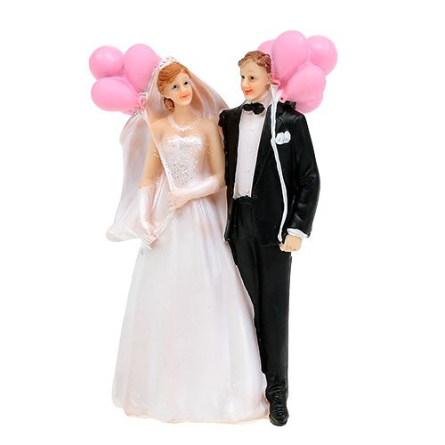 Brautpaar mit Luftballons 14cm