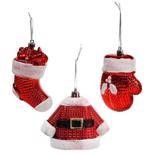 Weihnachtsbaumschmuck Rot Weiss 3st Preiswert Online Kaufen