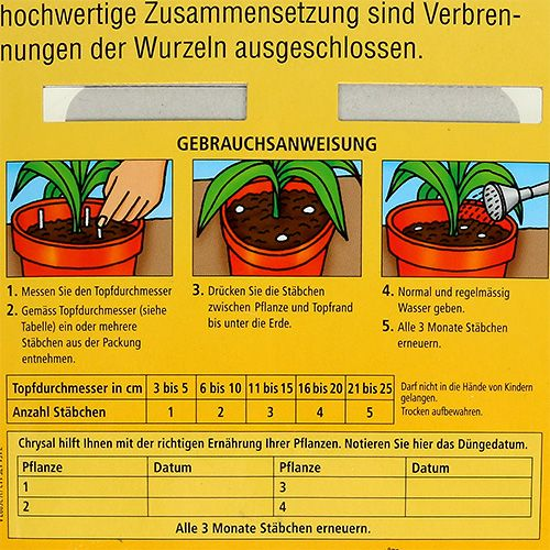 Chrysal Düngestäbchen Grünpflanzen (24St.)