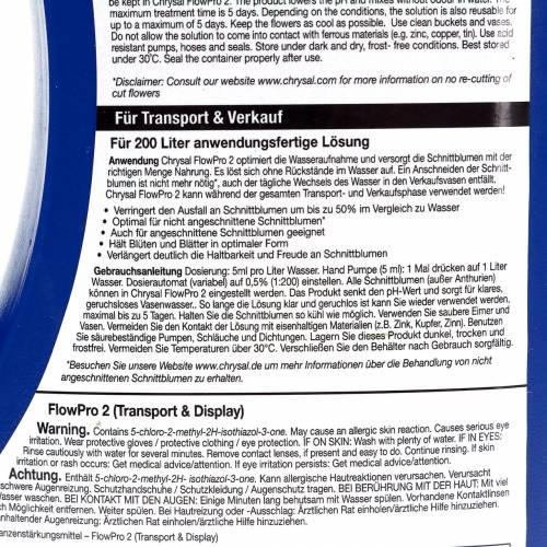 Chrysal FlowPro 2 für Transport und Verkauf 1l