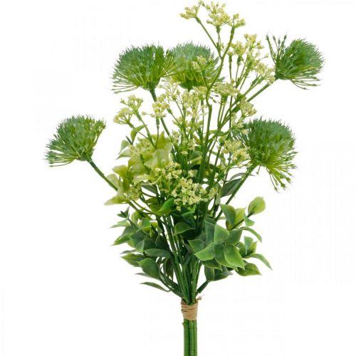 Seidenblumen, Künstlicher Blumenstrauß, Blumendeko mit Disteln 40cm