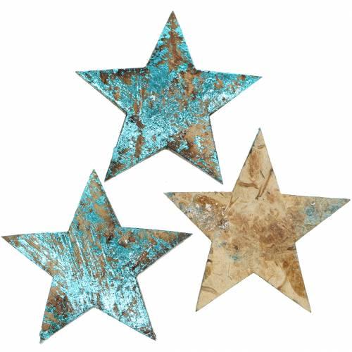 Kokos Stern Blau 5cm 50St Streusterne Tischdekoration