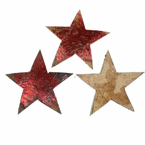 Kokos Stern Rot 5cm 50St Weihnachtsdekoration Dekosterne