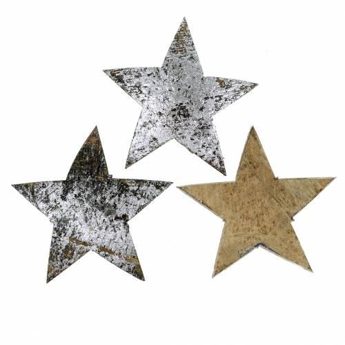 Kokos Stern Silber 5cm 50St Tischdekoration silber Adventsdeko Dekosterne