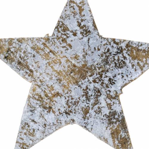 Kokos Stern weiß grau 5cm 50St Adventssterne Streudeko