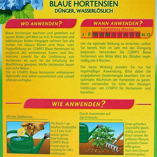 Compo Algoflash Hortensiendünger 800g